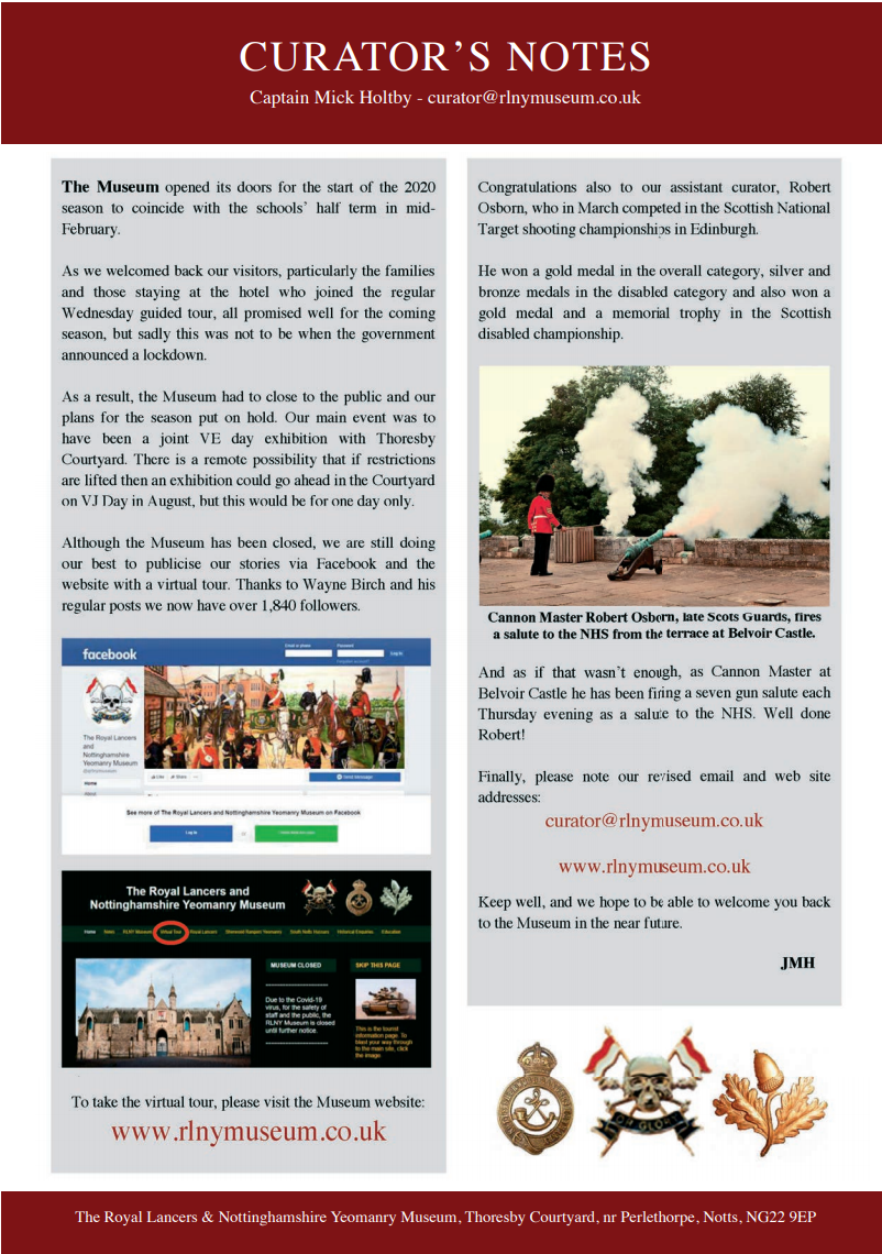 18th June 2020 Newsletter